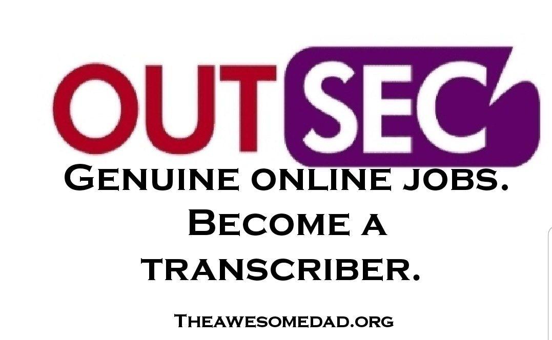 Work from home as an online transcriber. Online jobs