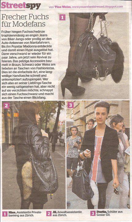 Frecher Fuchs für Modefans