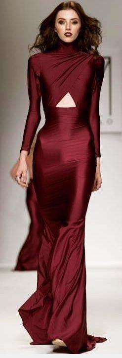 Fashionista Marsala Color Dress