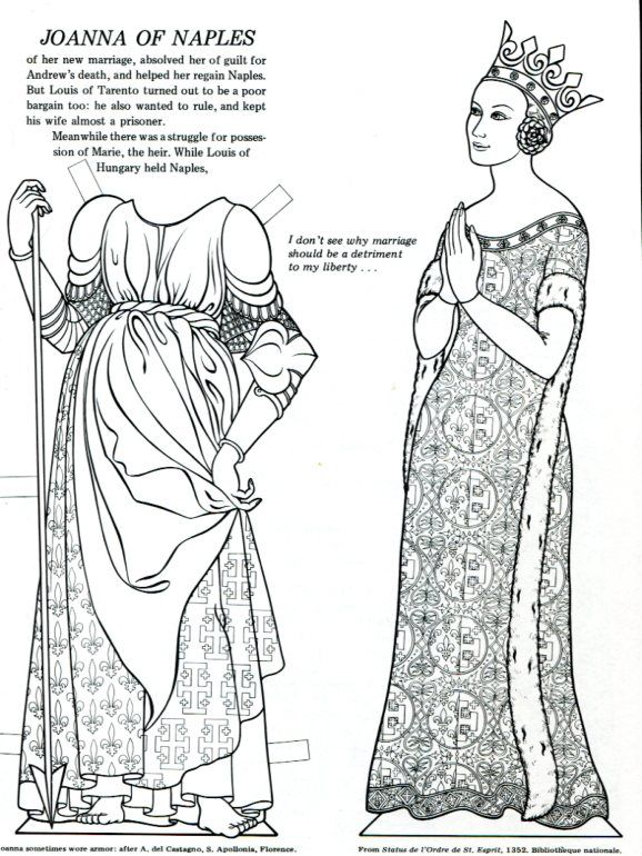 Giovanna di Napoli. from Infamous Women Paper Dolls, Bellerophon ...