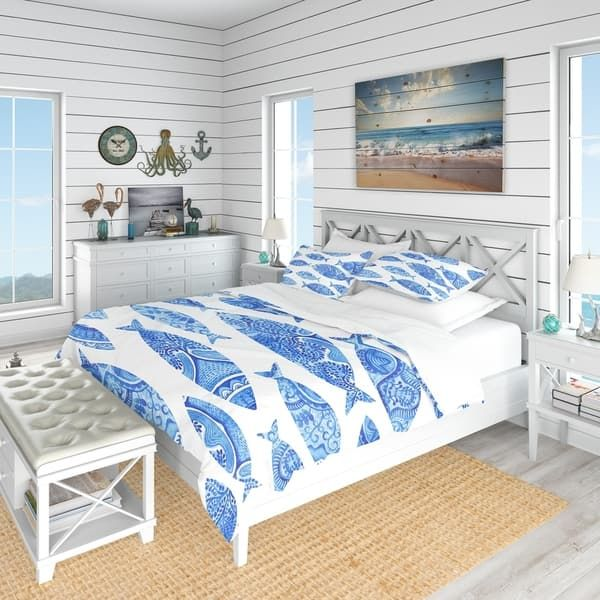 Overstock Com Online Shopping Bedding Furniture Electronics Jewelry Clothing More In 2021 Coastal Bedding Sets Coastal Bedding King Duvet Cover Sets