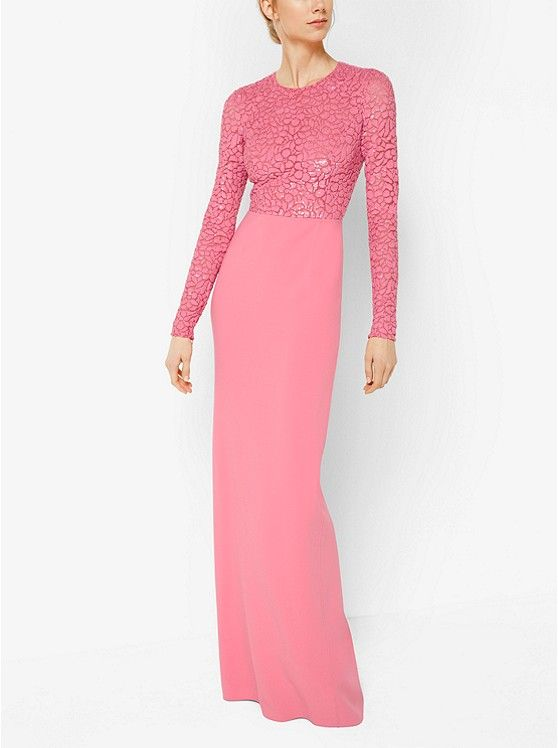 07c15b7077adb Michael Kors Embroidered Stretch Wool-Crepe Gown | All dolled up ...