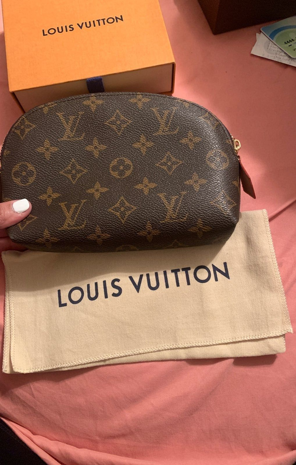Makeup Bag Pm Size Has A Small Stain In The Inside Louis Vuitton Cosmetic Bag Louis Vuitton Pochette Vuitton