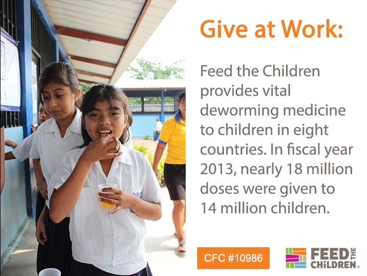You give health by supporting Feed the Children through workplace giving. #itmatters http://bit.ly/1pdFhX0 #CFC 10986