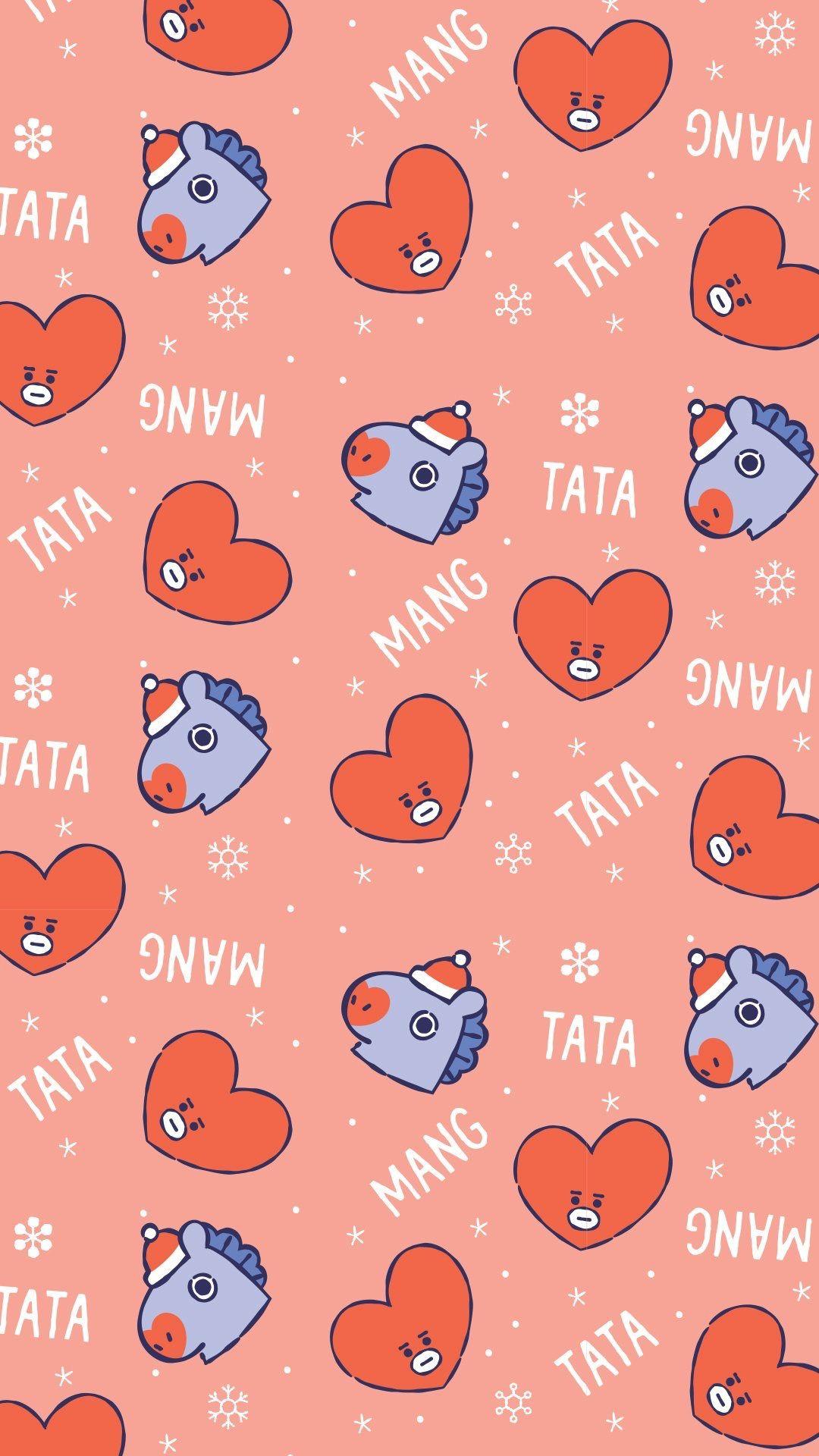 Bt21 Christmas Wallpaper Bt21 Mang Tata Wallpaper Bts Christmas Bts Wallpaper Bts