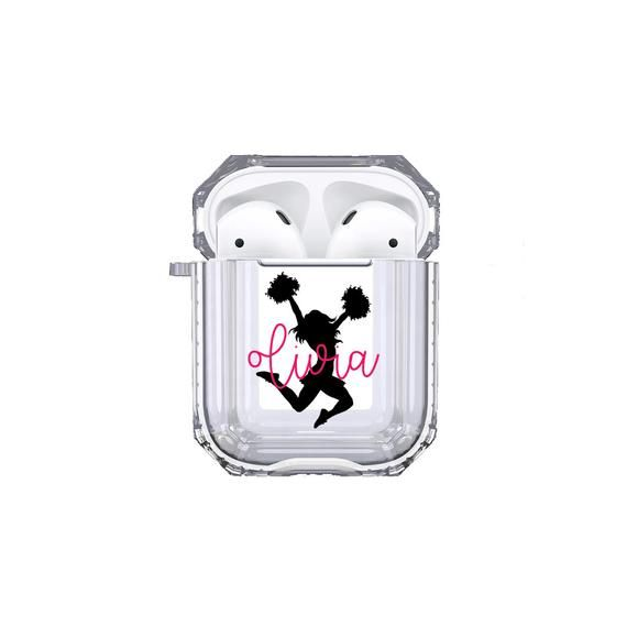 Protective Customized Sports Airpod Case Cheer Name Airpods Etsy Airpod Case Case Custom Case
