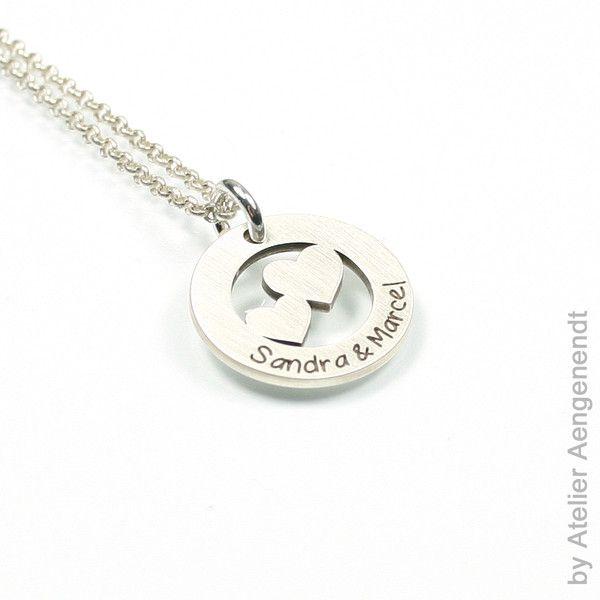 Inkl Kette Glaube Liebe Hoffnung Anhänger mit Gravur-925er Sterling Silber