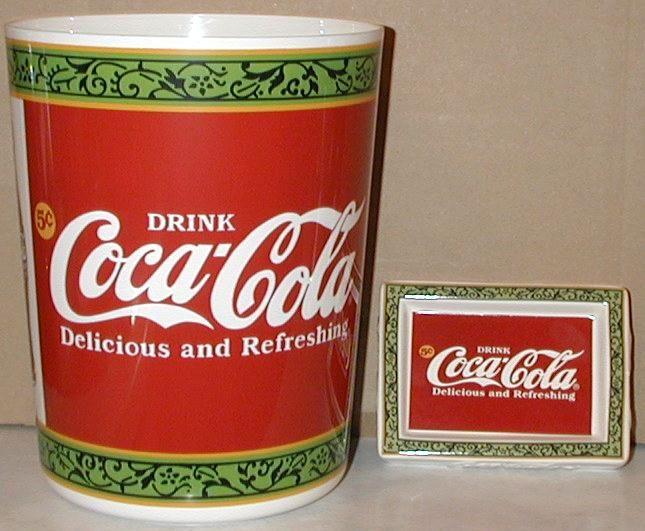 Coca Cola Bathroom Decor.Coca Cola Bathroom Set Wastebasket And Soap Dish Coca Cola Happy