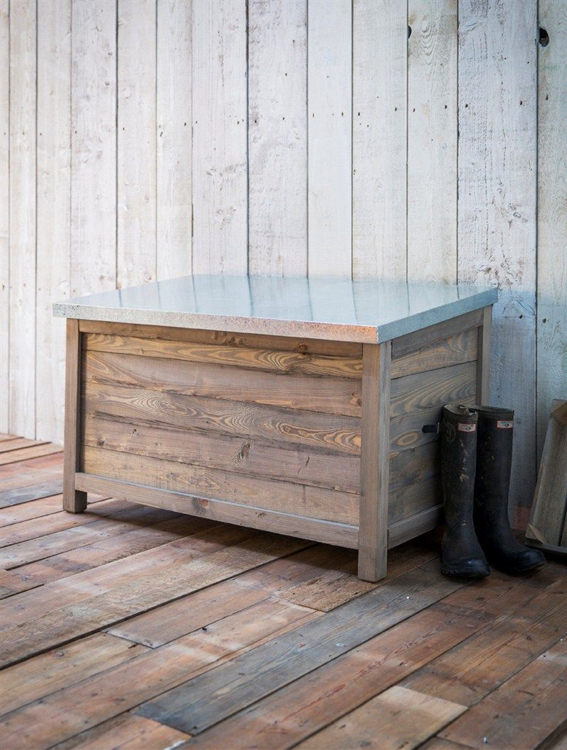 Elegant This Robust Rustic Wooden Garden Storage Box Can Provide Indispensable  Storage, A Great Alternative To