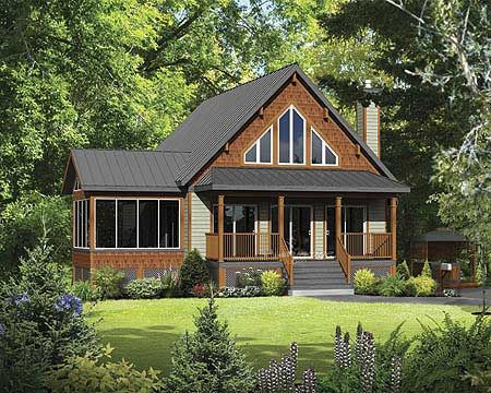 plan 80685pm: classic mountain cabin | half baths, full bath and cabin