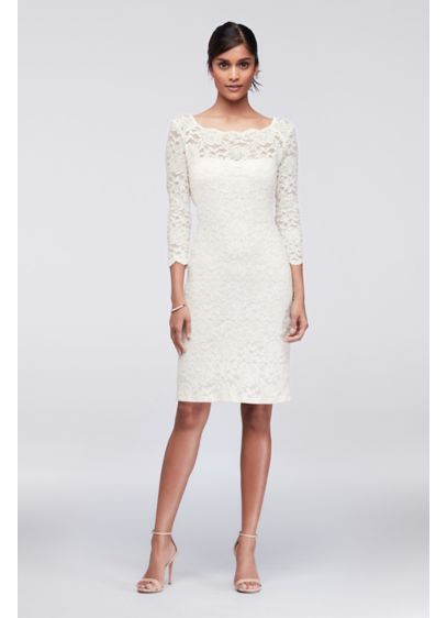 053e2dd655d9 Short Sheath 3 4 Sleeves Cocktail and Party Dress -