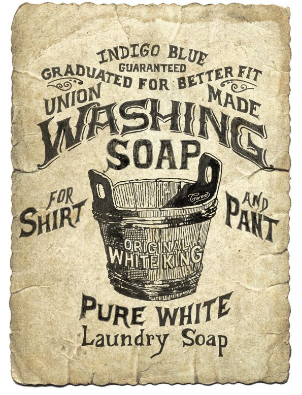 Washing Clothing Project By Tweed Style By Tweed Style Via Behance Vintage Laundry Soap Labels Laundry Labels