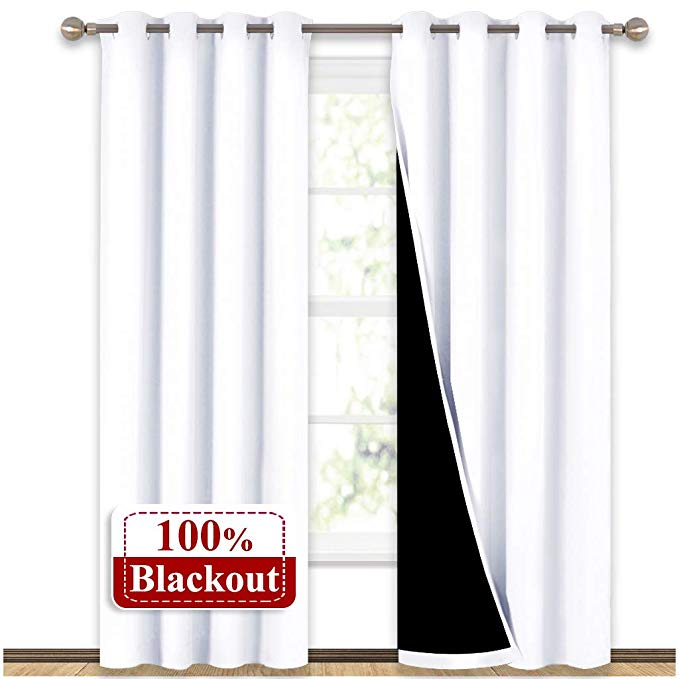 Amazon Com Nicetown 100 Blackout Window Curtain Panels Heat And