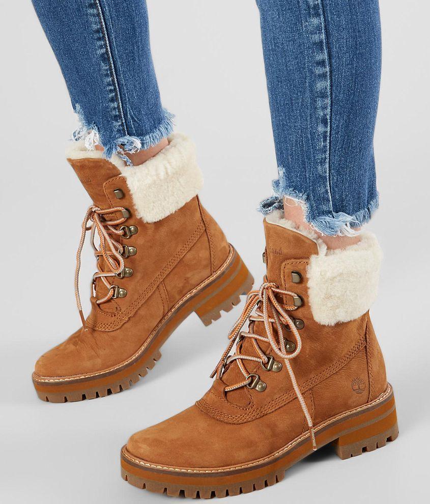 Timberland Women's Courmayeur Valley Tall Boots in Medium Brown Nubuck