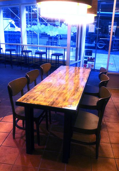 Superieur Starbucks W. 56th St. New York, NY Reclaimed Bowling Lane Table By  CounterEv. Http://counterev.com