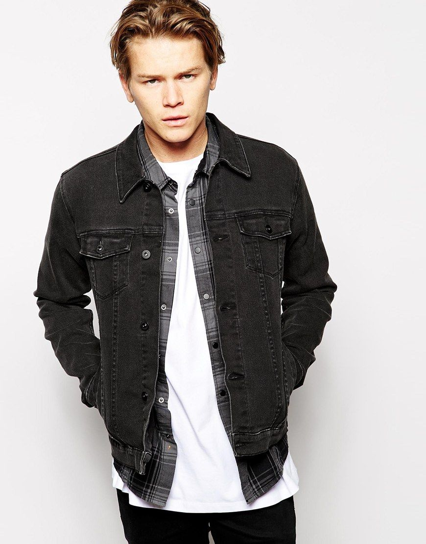 Asos Denim Jacket In Skinny Fit Stephen Pinterest Denim
