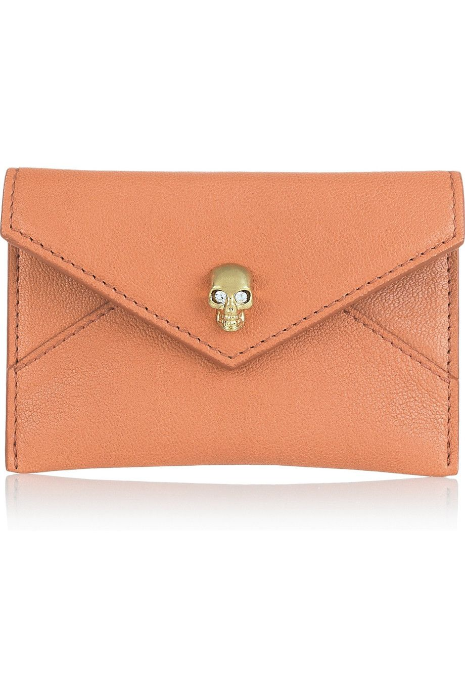 Alexander mcqueen card holder leather leather