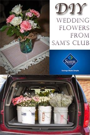 Order flowers from Sams Club for wedding and arrange them