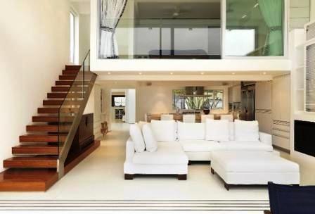 Modern House With Mezzanine Bedroom alternate view into bedroom ...