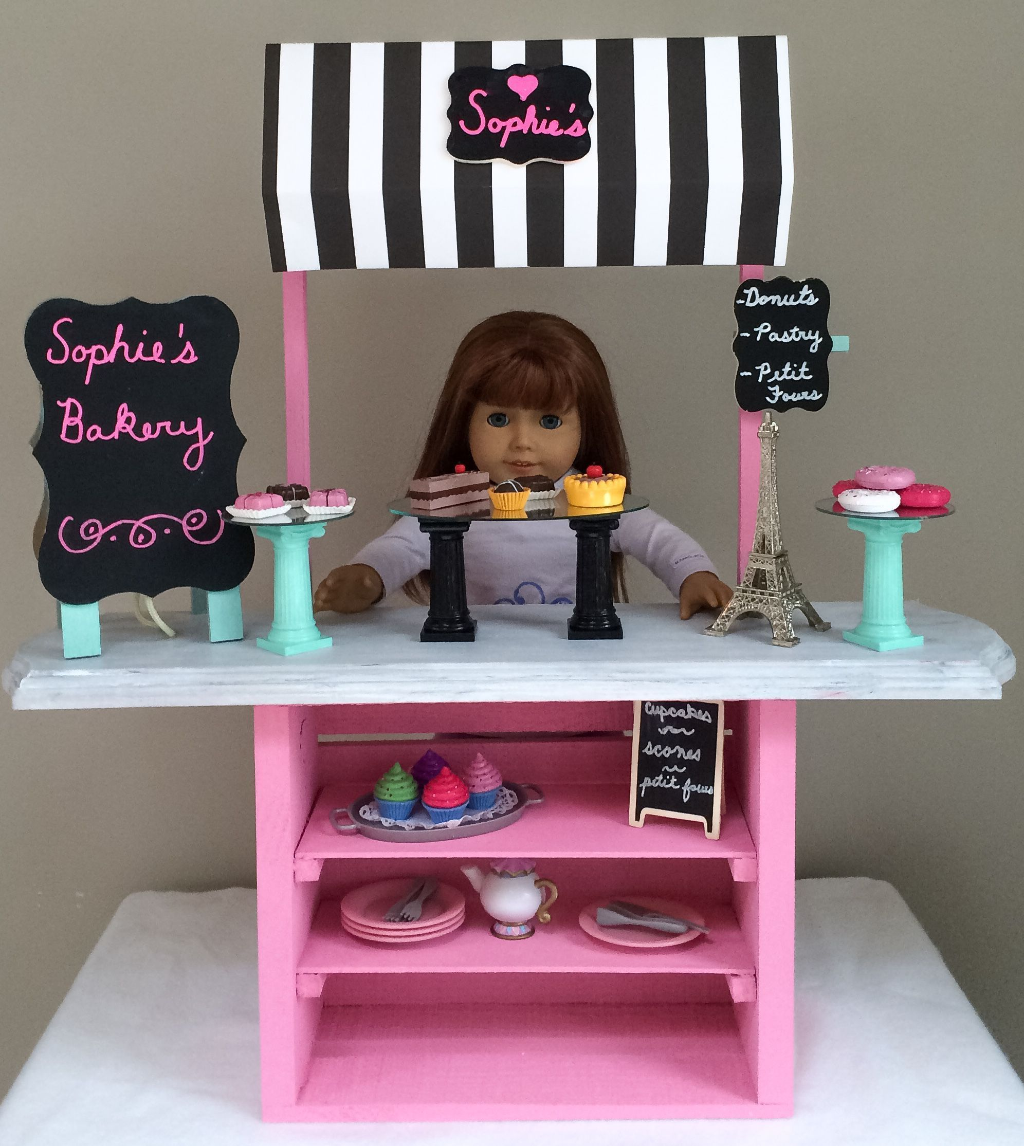DIY American Girl Bakery with Craft Store Materials
