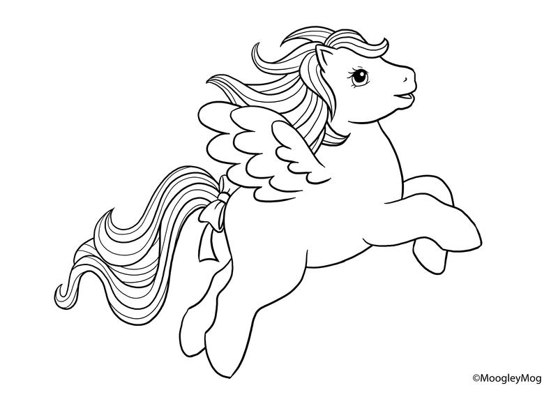 MLP Lineart 7 Pegasus by MoogleyMogdeviantart