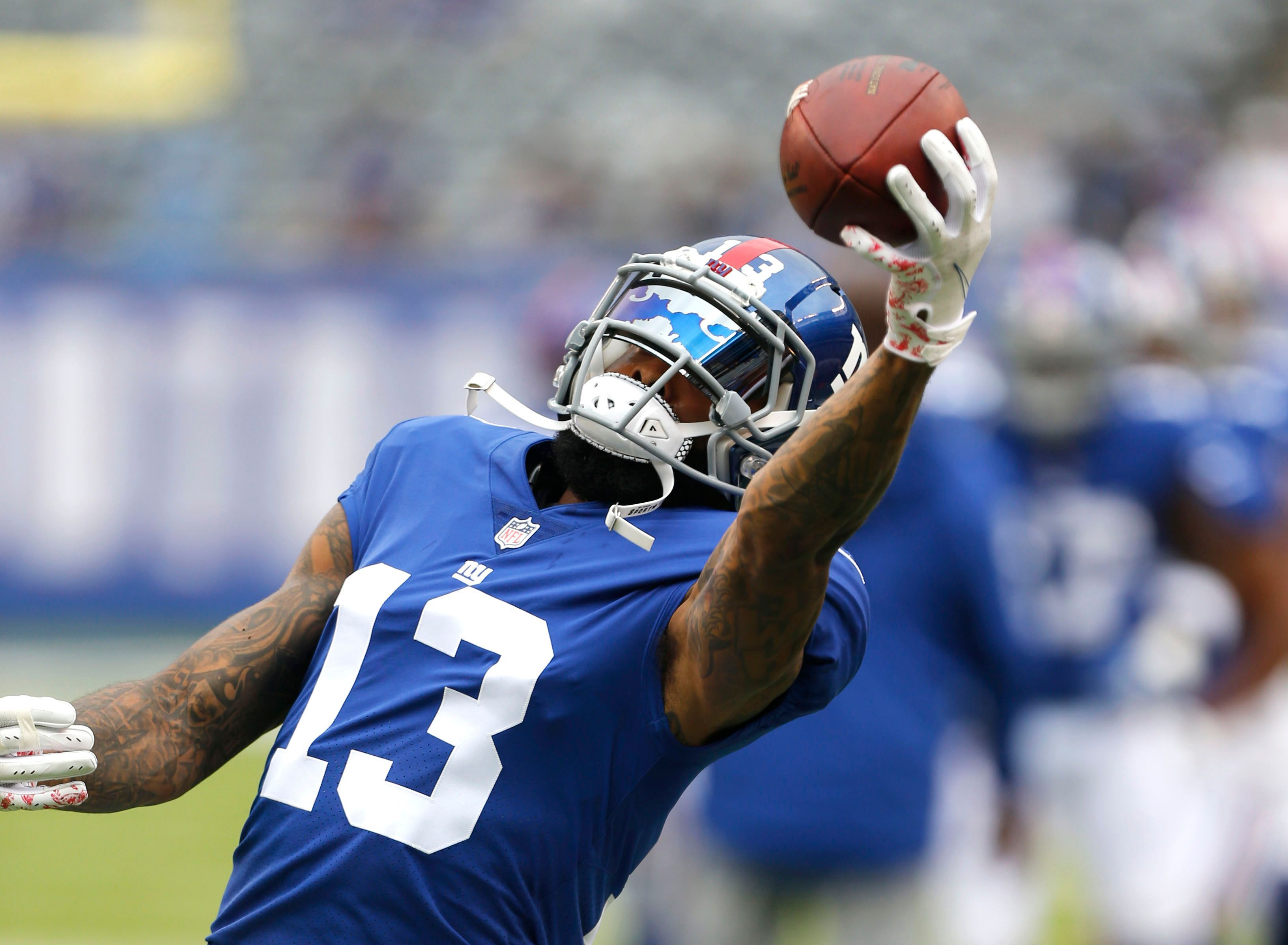 Odell Beckham Jr. carted off from Giants' loss with ankle