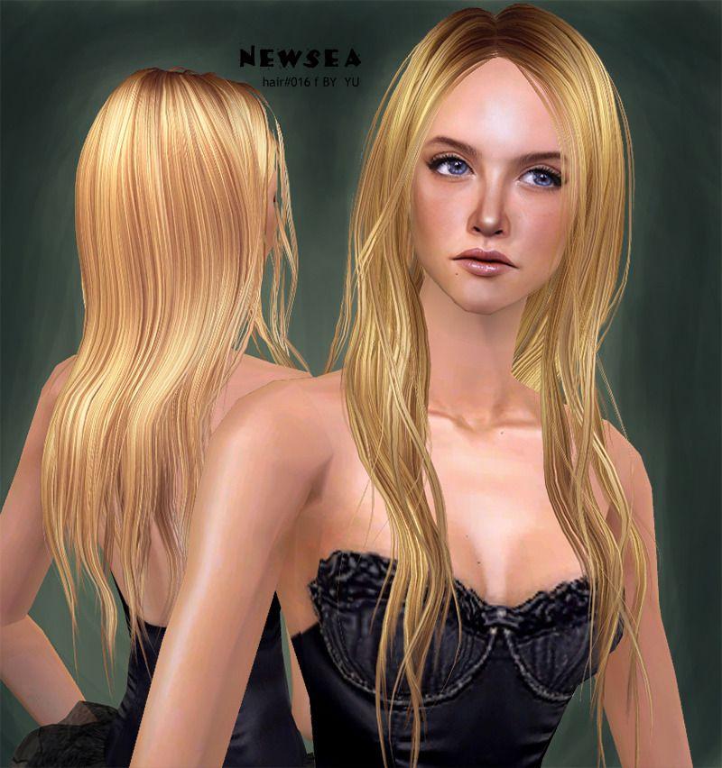 Sims 2 Hairstyles: Sims 2 (long Hair, Blond, Girl)