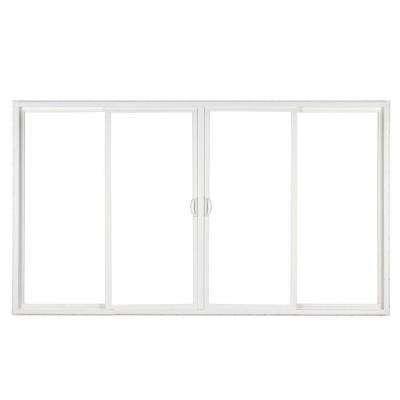 4 Panel Contemporary Vinyl Sliding Patio Door With ProSolar LowE Glass And  Custom Interior Hardware