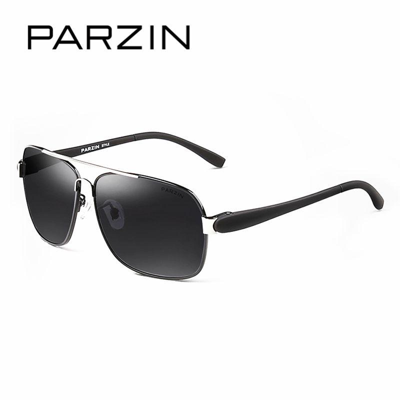7b9182aa8f75 PARZIN Brand Classic Aviator Alloy Frame Sunglasses For Men Cool Pilot  Square Polarized Driving Sun Glasses Eyewear Accessories