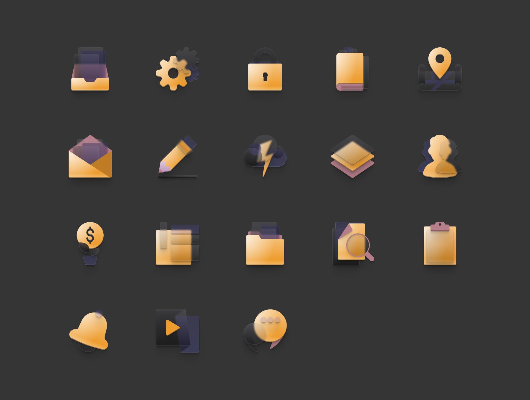 Neumorphism¡¯ish icon set Neumorphism¡¯ish icon set. 36
