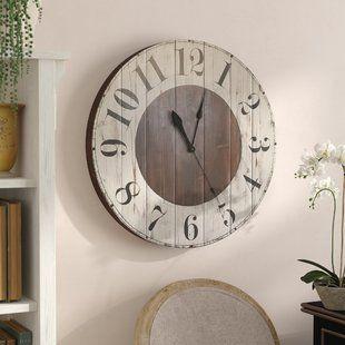 4d858d8c3586 Wall Clocks You'll Love | Wayfair | Clock | Farmhouse wall clocks ...