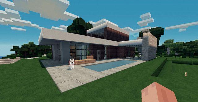 Planos para una Casa Moderna Minecraft for free Modelo