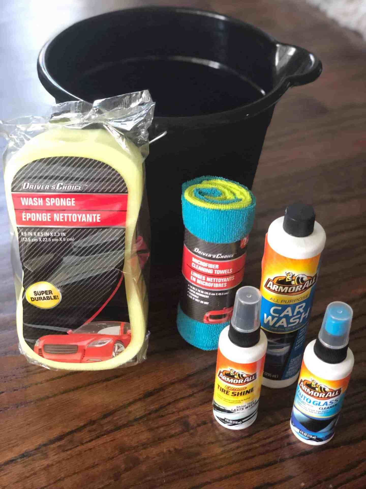 Fathers day car wash gift basket coffee pancakes