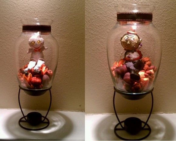 Scented oil burner, $1 Vase, on hand or $1 Halloween character - cool halloween ideas