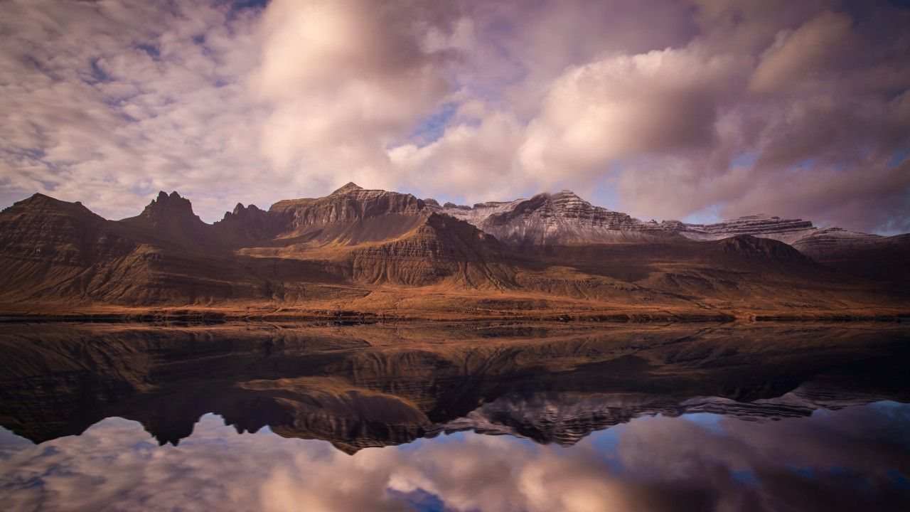 Iceland 4k 5k Wallpaper Mountains River Clouds