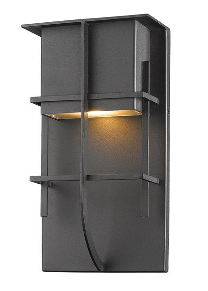 Z Lite Stillwater 19 In Black Led Outdoor Wall Sconce Rona Outdoor Walls Outdoor Wall