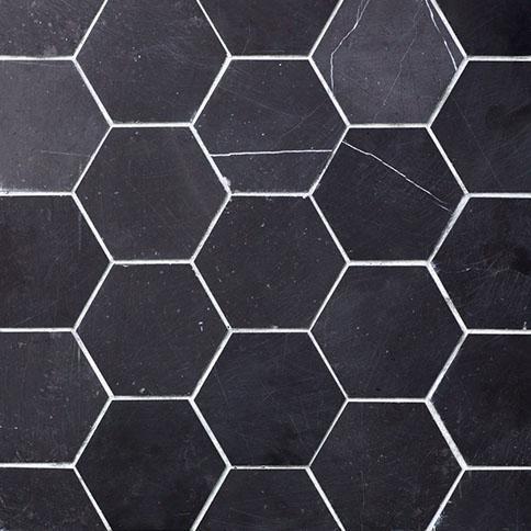 Generous 1 X 1 Ceiling Tiles Small 17 X 17 Floor Tile Shaped 1950S Floor Tiles 2 Inch Hexagon Floor Tile Old 24X24 Floor Tile Brown2X2 Ceiling Tiles Lowes Seta Nera 4 Inch Hex | Nemo | For The Home | Pinterest | Bathroom ..