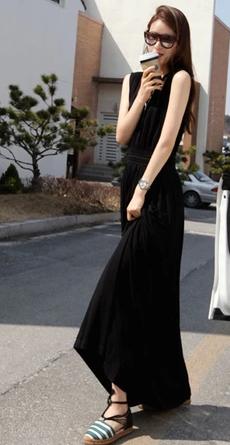"""Модное женское платье без рукавов, воротник """"V"""""""