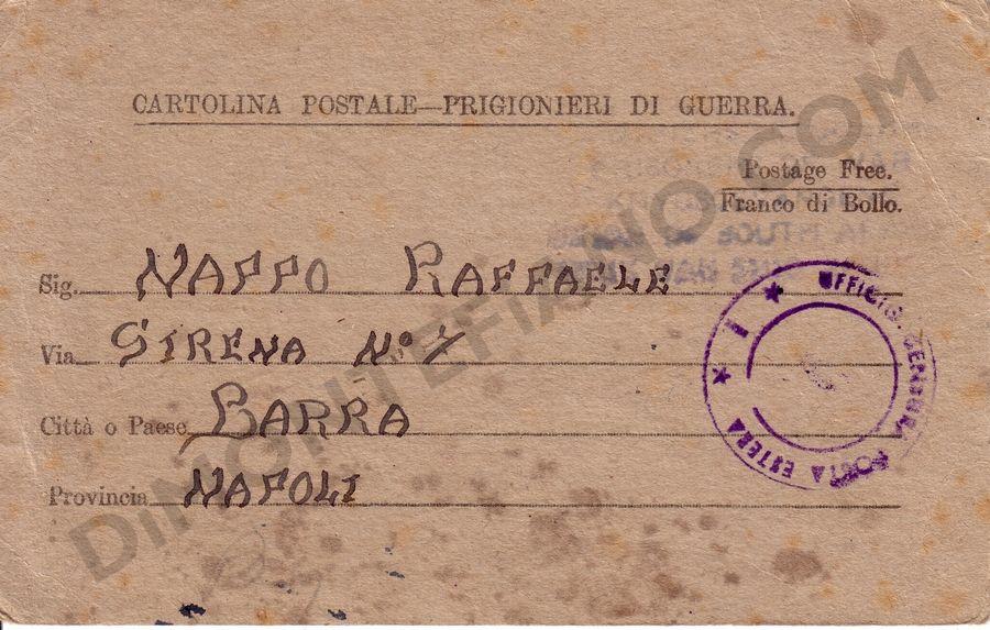 Cartolina postale prigionieri di guerra