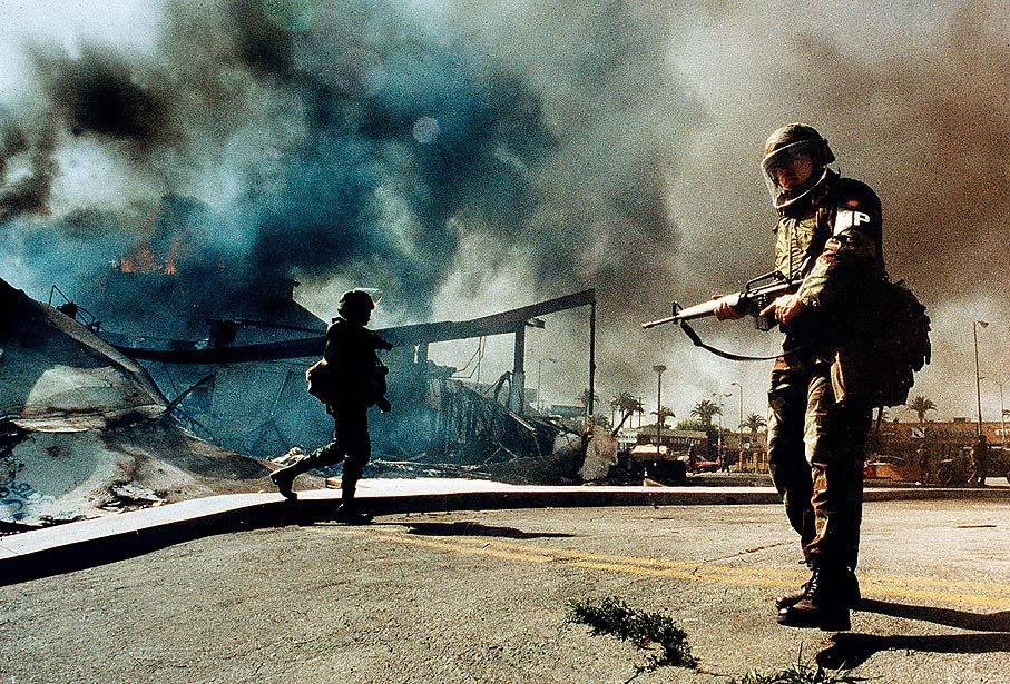 Help! need sociological explanation for the LA riots in 1992?