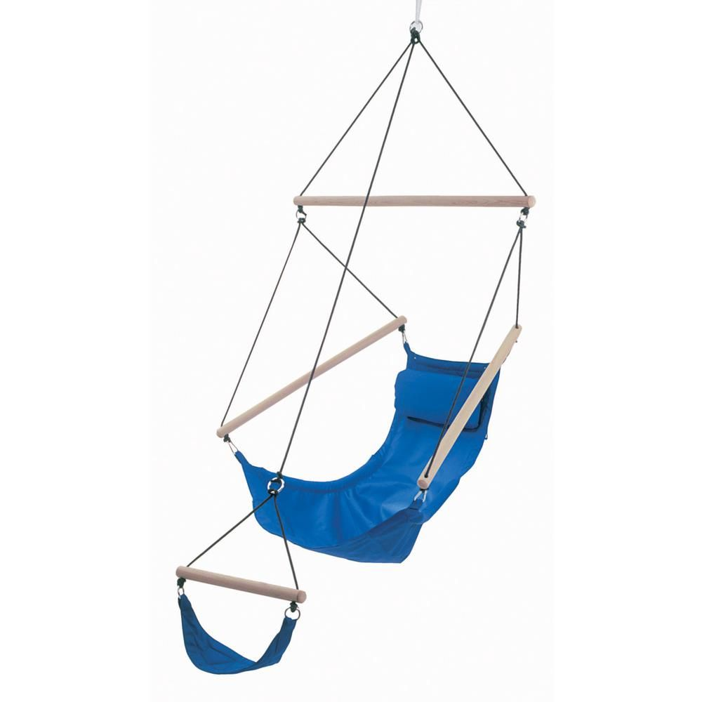 Byer Of Maine 6 Ft 6 In Polyester Hanging Chair With Foot Rest Royal Blue Swinging Chair Hammock Swing Chair Hammock Chair