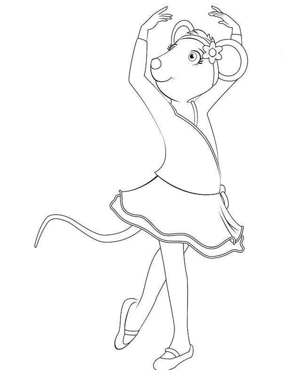 Cartoon Dancing Coloring Pages For Kids #uE : Printable Ballet and