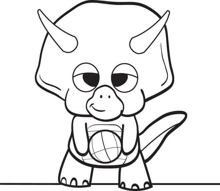 Baby Dinosaur Coloring Pages Puting Dinosaur Coloring