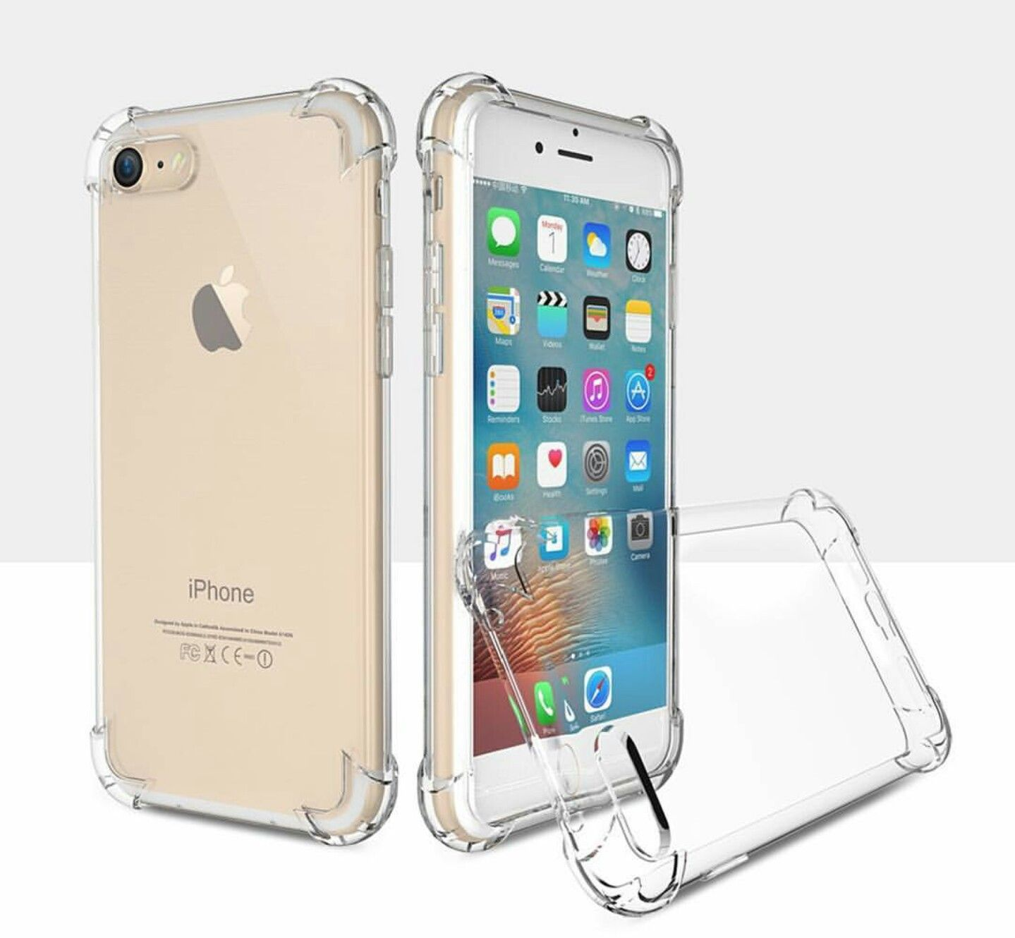 Shock Proof Anti Knock Protective Iphone 7 8 Soft Cases Retailite Iphone Clear Iphone Case Iphone Cases