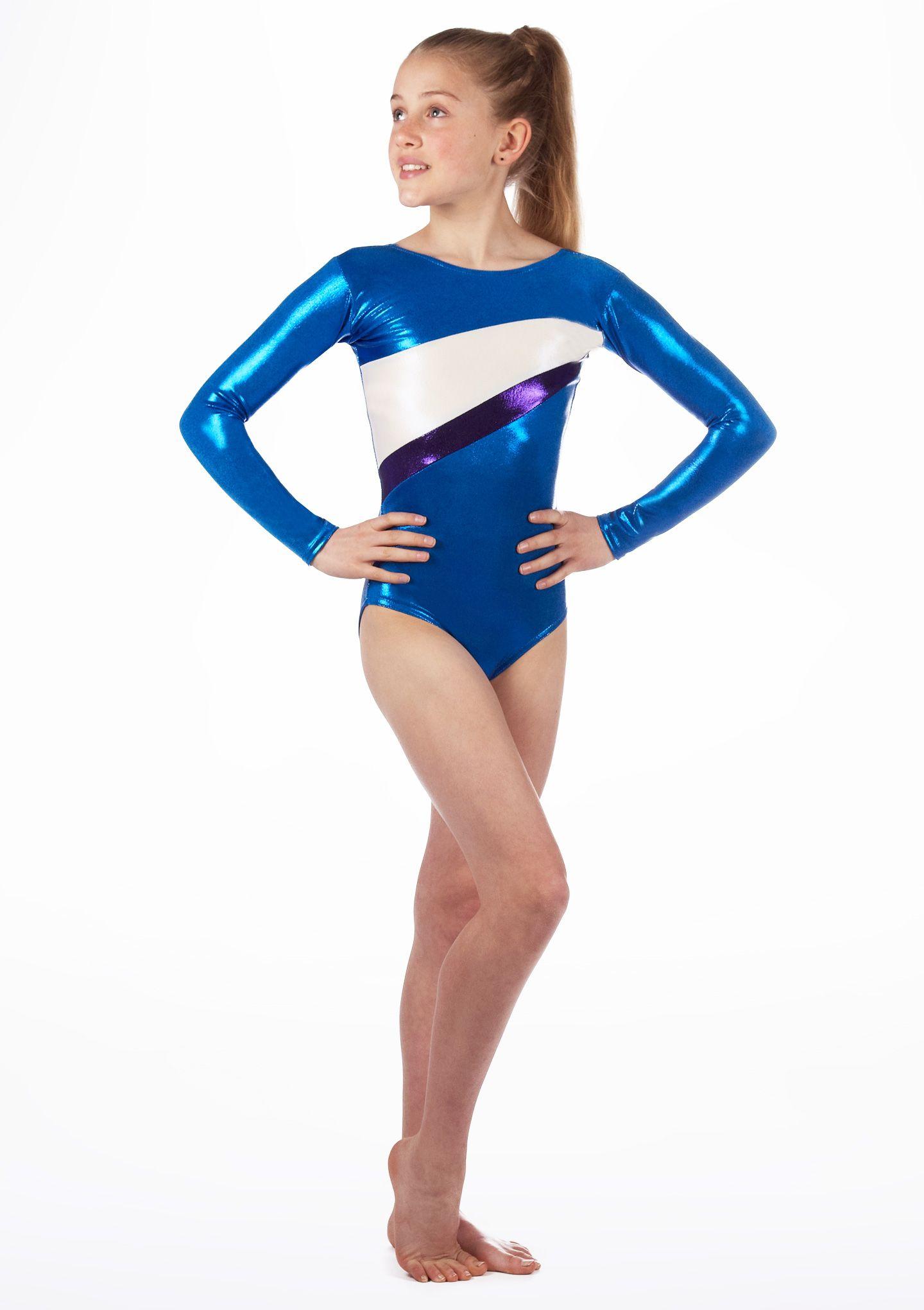 3eeb7193dd357 Alegra Girls Cosmic Long Sleeve Gymnastics Leotard | Dance | Long ...