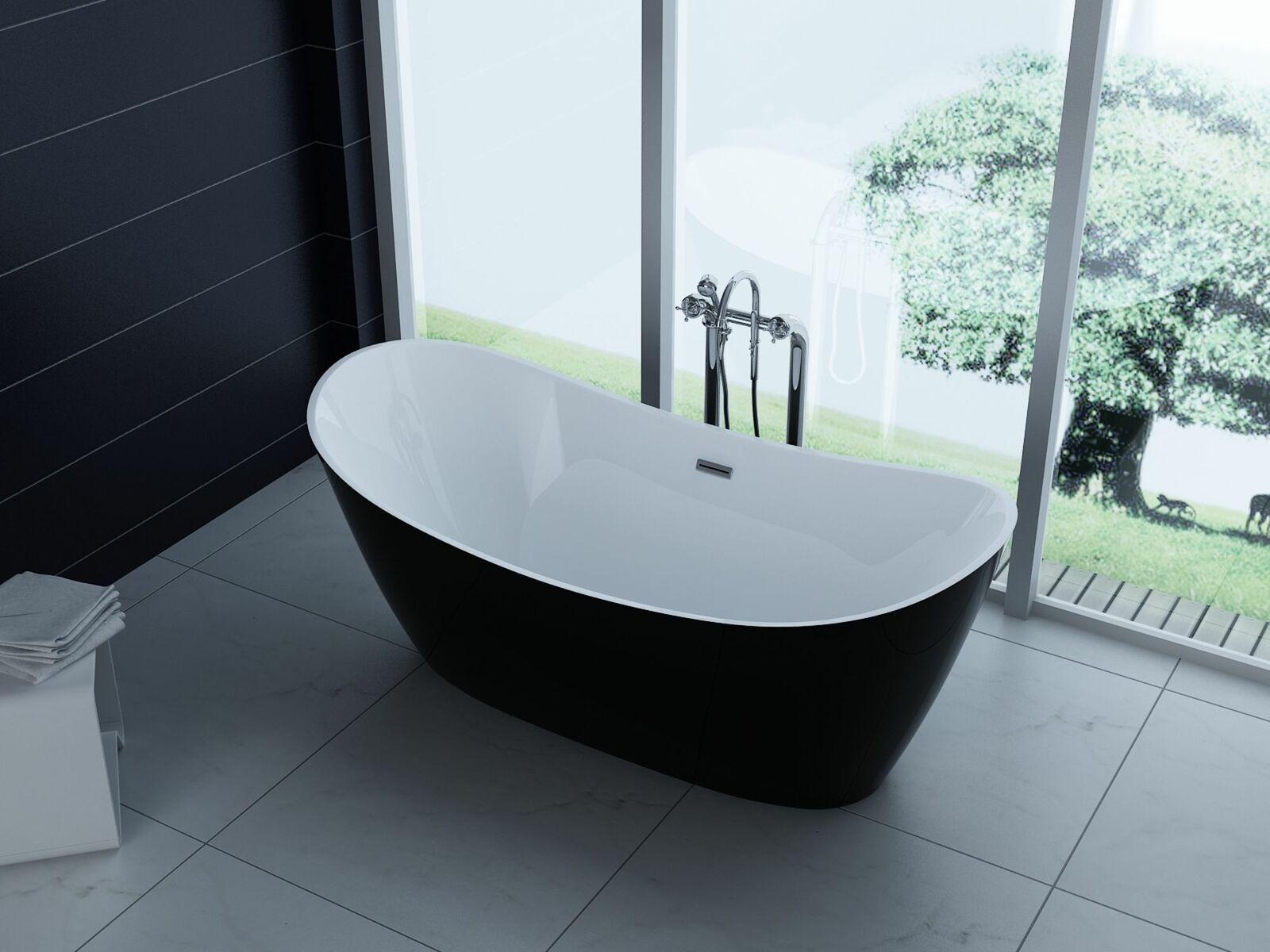 Luxus Freistehende Badewanne 170x80 Acrylwanne Inkl Ablauf Uberlauf Aktion In 2020 Freistehende Badewanne Badewanne Neues Badezimmer