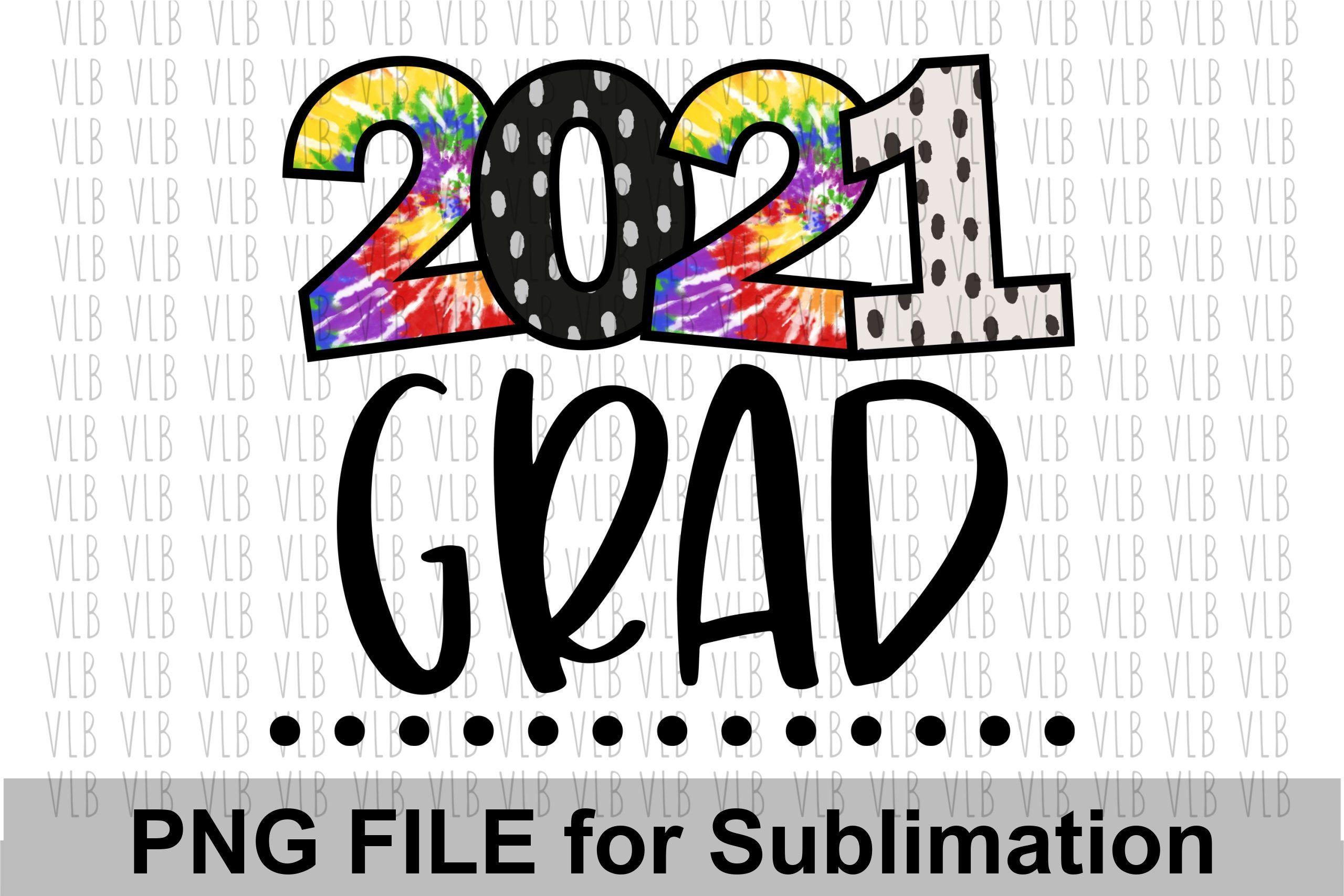 Grad 2021 Senior 2021 Sublimation Blank 5x7