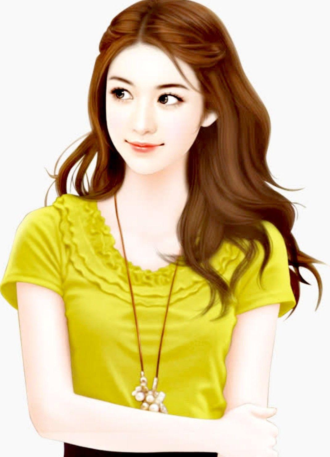 Pin oleh Tu Siripreeya di 美图 Anime gadis cantik, Lukisan