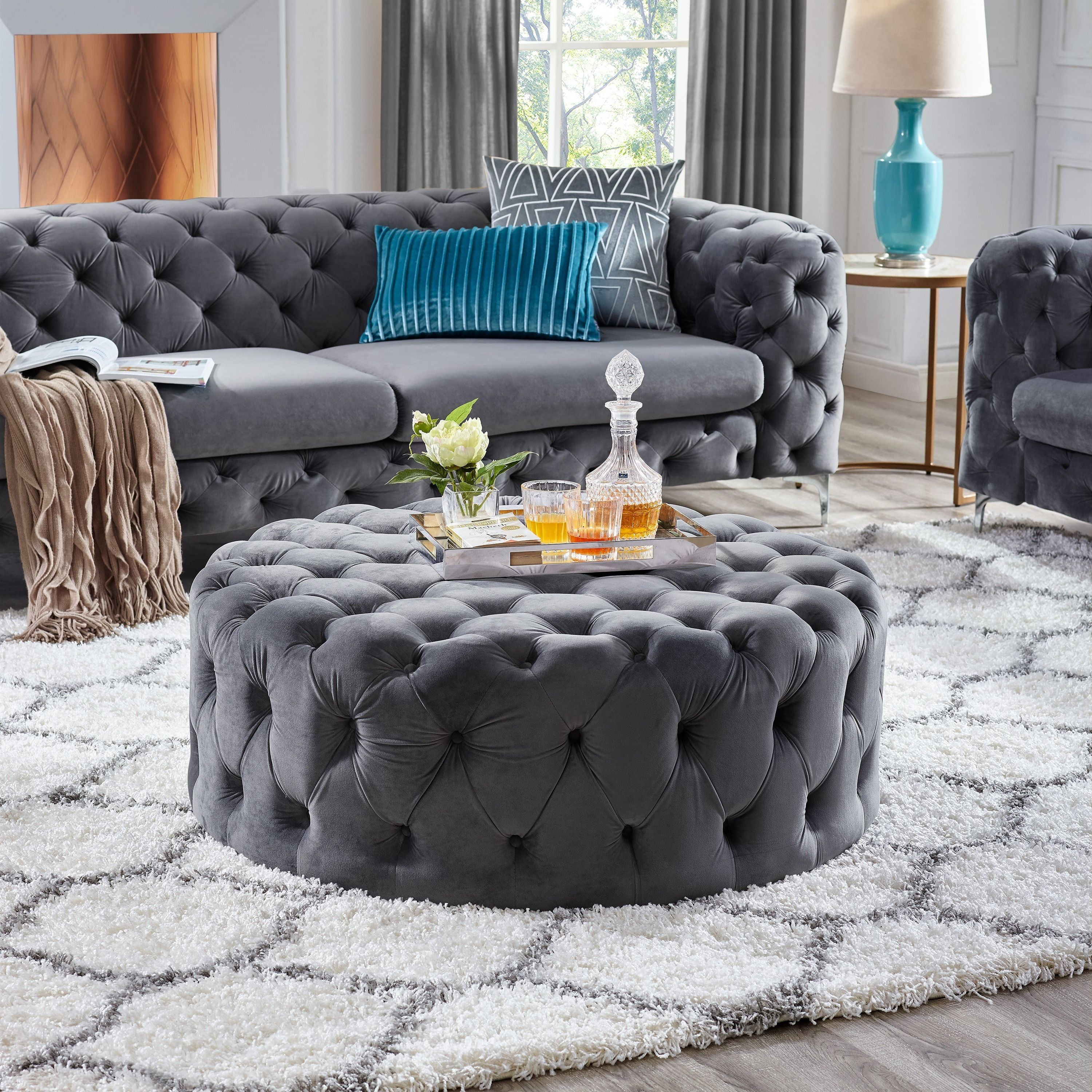 Overstock Com Online Shopping Bedding Furniture Electronics Jewelry Clothing More Round Ottoman Furniture Ottoman