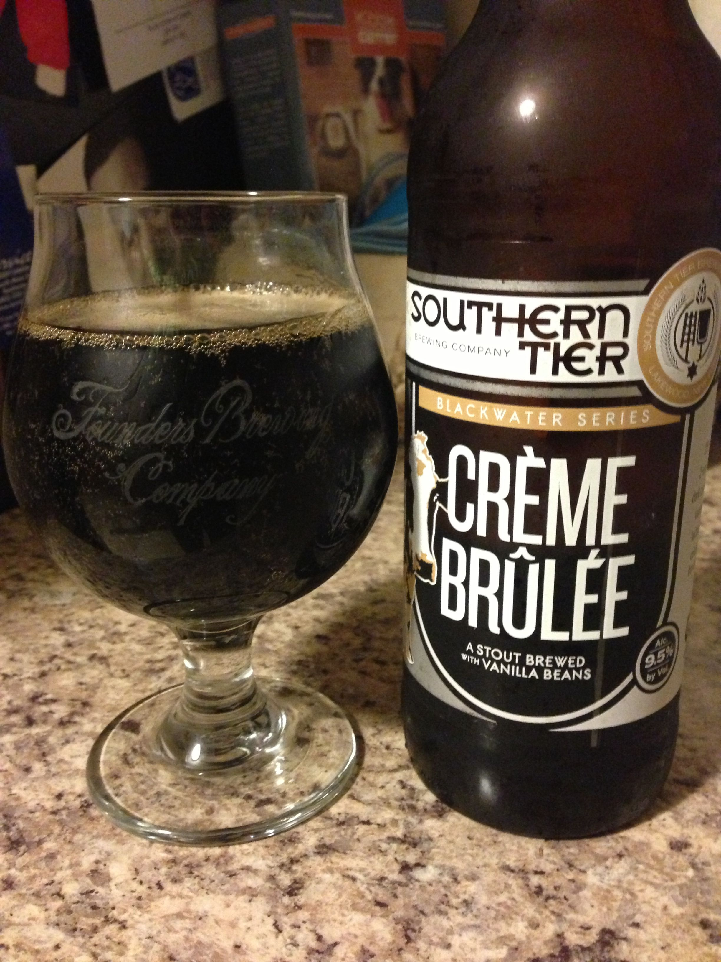 Creme Brulee Imperial Milk Stout Southern Tier Brewing Company